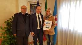 Campobasso: il presidente Micone ha ricevuto in visita Paola Fioroni, consigliere nazionale della Croce Rossa Italiana.