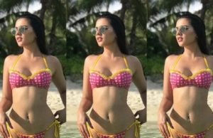 ruhi singh turns up the heat in bikini