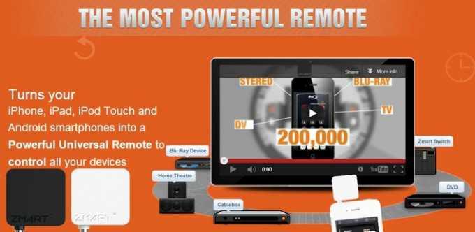 CES 2013: Zmart Remote e il nostro smartphone diventa un telecomando universale!