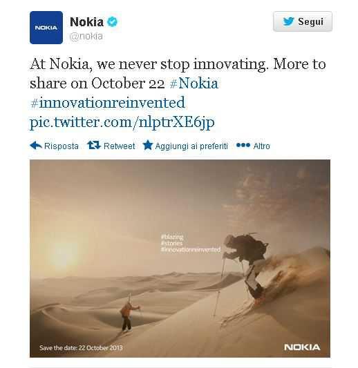 Nokia 22 ottobre