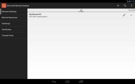 Microsoft lancia Remote Desktop, un'app Android in concomitanza con il rilascio di Windows 8.1