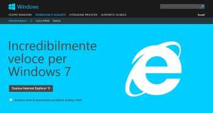 Internet explorer 11 per Windows 7 disponibile ( download )