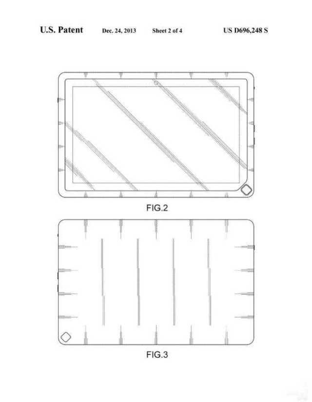 La domanda di brevetto Samsung che mostra il tasto home del tablet su un angolo invece che al centro