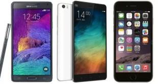Xiaomi Mi Note Pro vs Samsung Galaxy Note 4 vs iPhone di Apple 6 Plus: caratteristiche