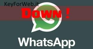 WhatsApp down oggi domenica delle Palme 14 aprile 2019