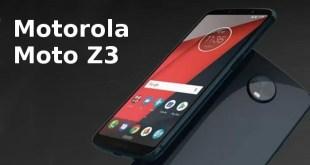 Nuovi Motorola Moto Z3, le prime immagini e specifiche