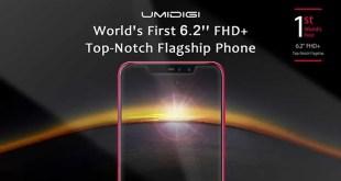 UMIDIGI Z2, il primo al mondo con schermo da 6,2 pollici con Top-Notch