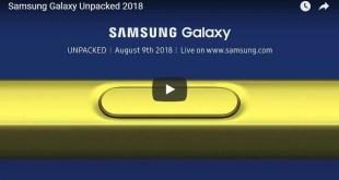 Galaxy Note 9 livestream: Segui l'evento da qui