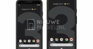 Prime foto ufficiali per Google Pixel 3 e 3 XL