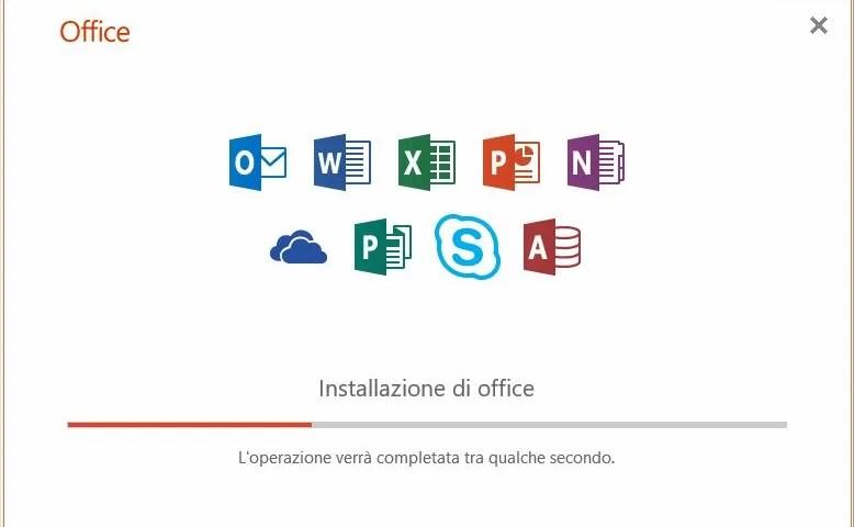Come installare Office 2019 click to run