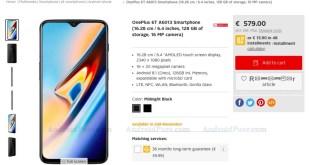 OnePlus 6T, rivenditore online mostra caratteristiche e prezzo