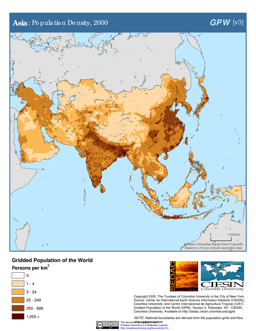 Population Most Asia