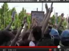 Манифестация студентов Турин