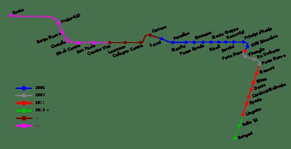 Карта метро Турин Италия