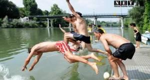 Big Jump bagno nel Po