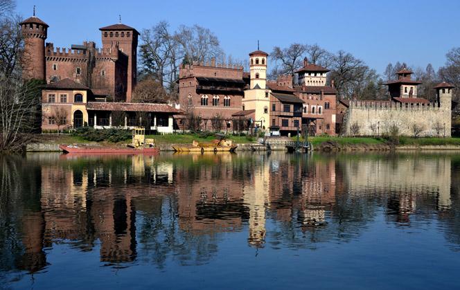 Средневековая деревня в Турине