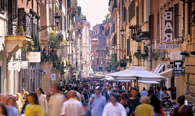Торговые улицы Рима Италия