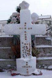 Cruce gheata Biserica Sf Ilie