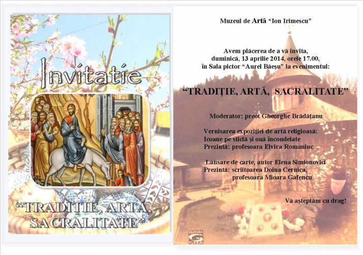 Falticeni-INVITATIE-Eveniment- Traditie, Arta, Sacralitate