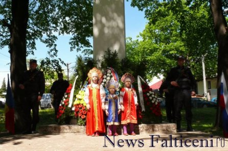 Falticeni-moment festiv in memoria eroilor rusi