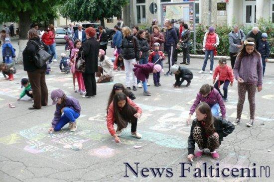 Falticeni-desene pe asfalt 1