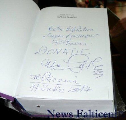 Falticeni-Falticeni-autograf pe carte donata