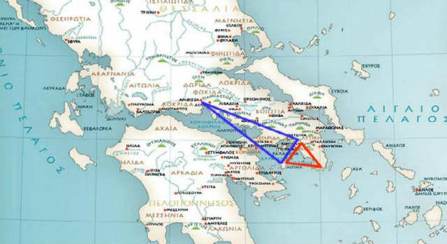 Αρχαία Ελλάδα: Οι μυστικιστικές τοπογραφικές συμμετρίες των αρχαίων Ελλήνων