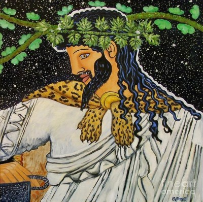 Dionysus - The mythical god of the joy of the feast and the feast.