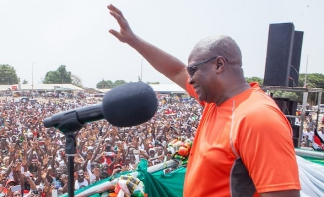 Mahama takes first round campaign tour to North Tongu