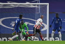 Photo of Early Goal!!! By Shelf Utd vs Chelsea which promted Graeme to calll N'Golo Kante and Hakim Ziyech