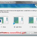 Αλλαγή μεγέθους ή αφαίρεση στο βελάκι των shortcuts στα Vista και 7