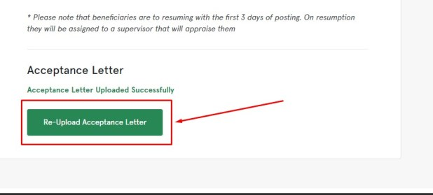 How to check if your scceptance letter has been uploaded