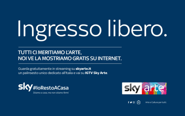 #iorestoacasa / Dal 25 marzo Sky Arte trasmette in streaming in chiaro per tutti