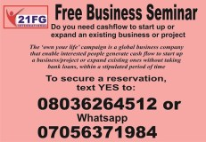 FREE BUSINESS SEMINAR IN UYO