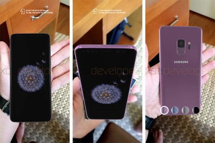 Le Galaxy S9 en 3D pour une démonstration 3D pour une démonstration de réalité augmenté