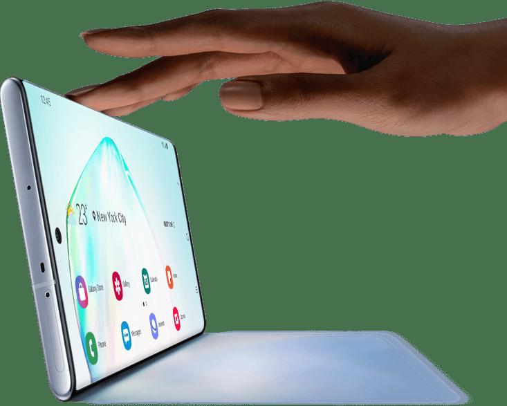 Galaxy Note10 en mode horizontal