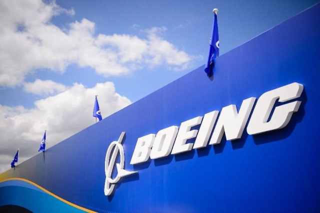 The Boeing chalet at the Farnborough air show in Hampshire, England, on July 15, 2014