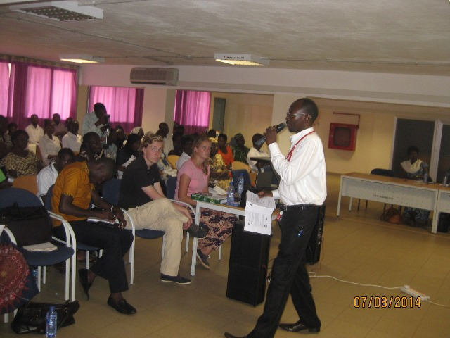 Dr Alhassan Abdul-Mumin, a Doctor at the Tamale Teaching Hospital addressing the workshop on World Hepatitis day in Tamale.