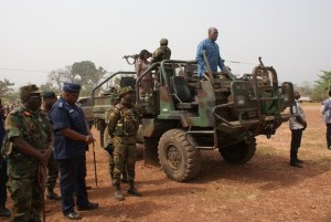 Vice-President-Amissah-Arthur-standing-on-a-military-vehicle-addressing-the-military-and-police-personnel-stationed-at-both-Alavanyo-and-Nkonya