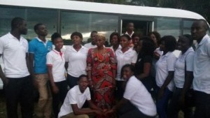 Mama Bisa I with the team