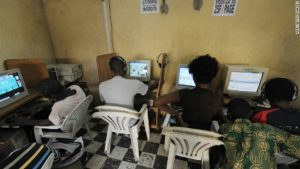 An Internet cafe can prevent its users from accessing certain online services, which are considered a drain on bandwidth