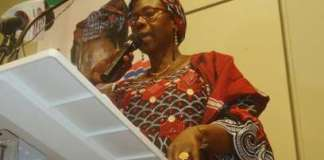 """Gambia's first-ever female presidential candidate Issatou Touray, seen in September 2016, said ehw ants to offer her """"unflinching support and cooperation"""" to the coalition of opposition parties in the country's December 1 election (AFP/File)"""