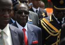 Zimbabwean President Robert Mugabe attends Ghana's 60th Independence Day celebration at the Independence Square in Accra, capital of Ghana, March 6, 2017. Ghana marked its 60th Independence Day at the Independence Square in the capital Accra on Monday, with a host of foreign dignitaries showing up to celebrate its position as the first Sub-Saharan country to attain independence. (Xinhua/Shi Song)