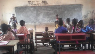 Some of the beneficiaries in Longi Community of the Bongo District during a lesson in class