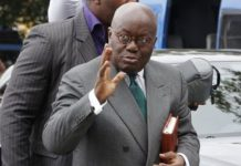 Akufo-Addo leaves