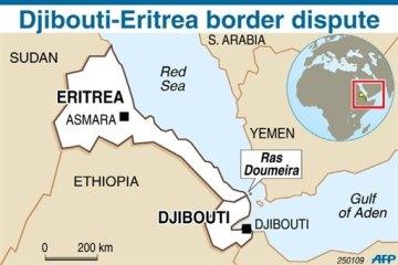 Eritrea-Djibouti Map of Border Dispute Over Ras Doumeira