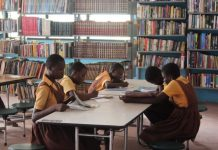 Pupils studying in the library at Gbawe (1)