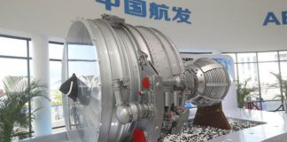 Photo taken is the aero-engine developed and manufactured by Aero Engine Corporation of China (AECC), a Chinese aircraft engine manufacturer. (Photo by AECC)