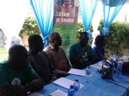 Deputy Energy Minister, with Oxfam Country Director, West Africa Programmes Manager and the Chairman for the occasion