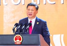 Chinese President Xi Jinping delivers a keynote speech at the Asia-Pacific Economic Cooperation (APEC) CEO Summit in Da Nang, Vietnam on Friday.Photo: Xinhua